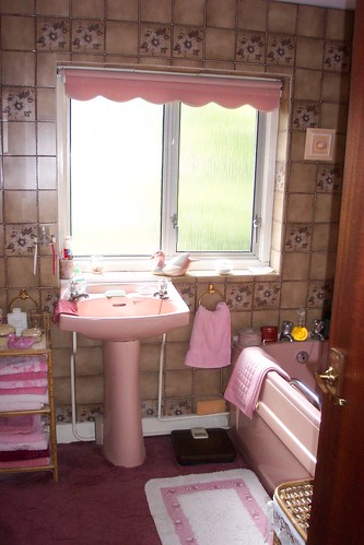 Affordable Bathroom Remodel The Original Bathroom In All Its Pink And Brown  Glory With Pink And Brown Bathroom.