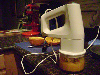 mixer: pumpkin puree
