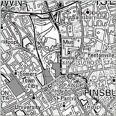 Kings Cross Flood map