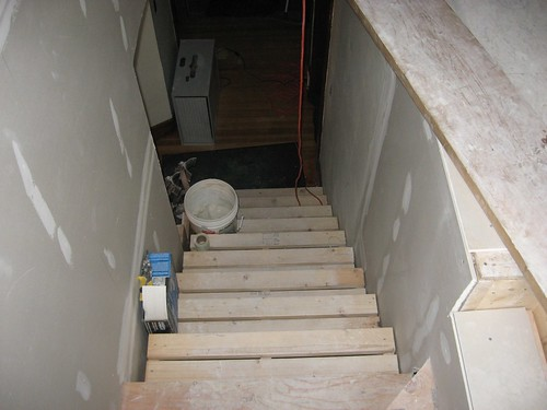 stairs down from attic