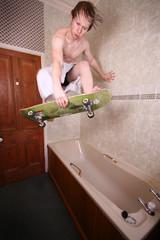 Indoor Skating - Part 4.2 [Explore] (tolucophoto) Tags: bath skating indoor towel skate strobist tolucophoto