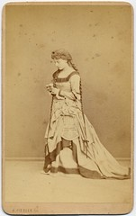 Actress in Renaissance Costume (josefnovak33) Tags: old vintage de costume photograph actress renaissance visite carte