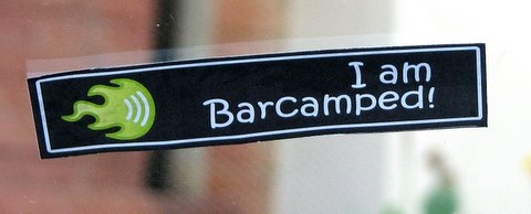 I am barcamped sticker 181107