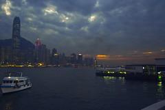Hong Kong Blues (nsagarchand) Tags: blue sky hongkong victoriaharbor