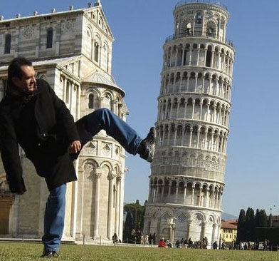 Leaning Tower Distance Illusion