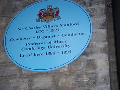 Photo of Charles Villiers Stanford blue plaque