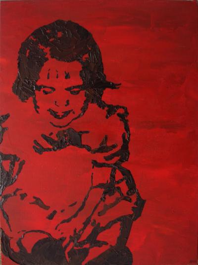 Stencil Portrait - baby Rychelle