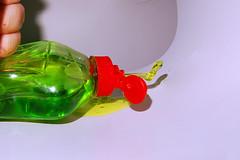 Fairy liquid - on the move (slinky2000) Tags: ireland color colour green make speed wow smash crash extreme fairy punch liquid limerick highspeed flashkit