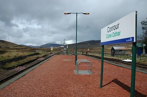 Corrour Station Platform