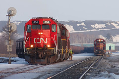 Ready to go at Unitac (Schnauf) Tags: winter snow cn dmir tunnelmotor sd40t2 sd38
