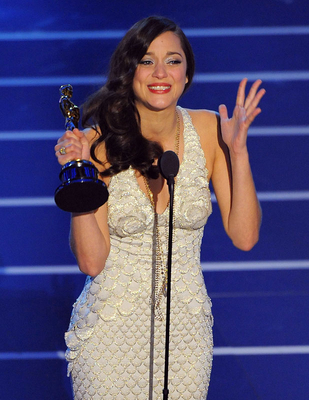 Actress Marion Cotillard onstage during the 80th Annual Academy