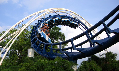 Corkscrew Roller Coaster by Vlastula, on Flickr