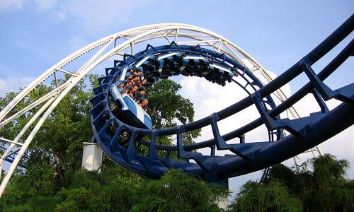 Corkscrew Roller Coaster by Vlastula, on Flickr