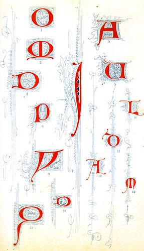 Letras ornamentadas siglo 14