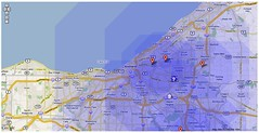 Screen shot of a Cleveland-area heat map from Localographer