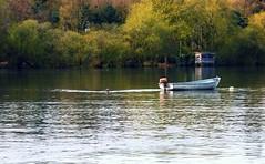 15 Apr 2008 (DaisyCat77) Tags: trees lake water boat hut hide scavenger faraway hanningfield
