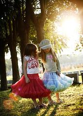 Friendship ({amanda}) Tags: autumn trees girls friends sun kids backlight walking 50mm afternoon warmth sunflare fiveyears amandakeeysphotography