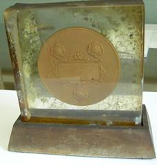 Carnegie Hero Medal in Lucite (reverse)