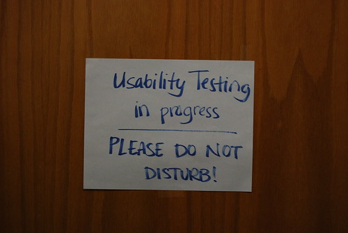 Usability Testing in Progress