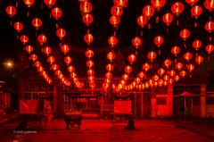 Red Heat (pietkagab) Tags: chinese temple chinesenewyear buddhism red light lanterns night dark lampions lamps malaysia georgetown penang travel trip tourism sightseeing oldtown unesco celebration outdoors