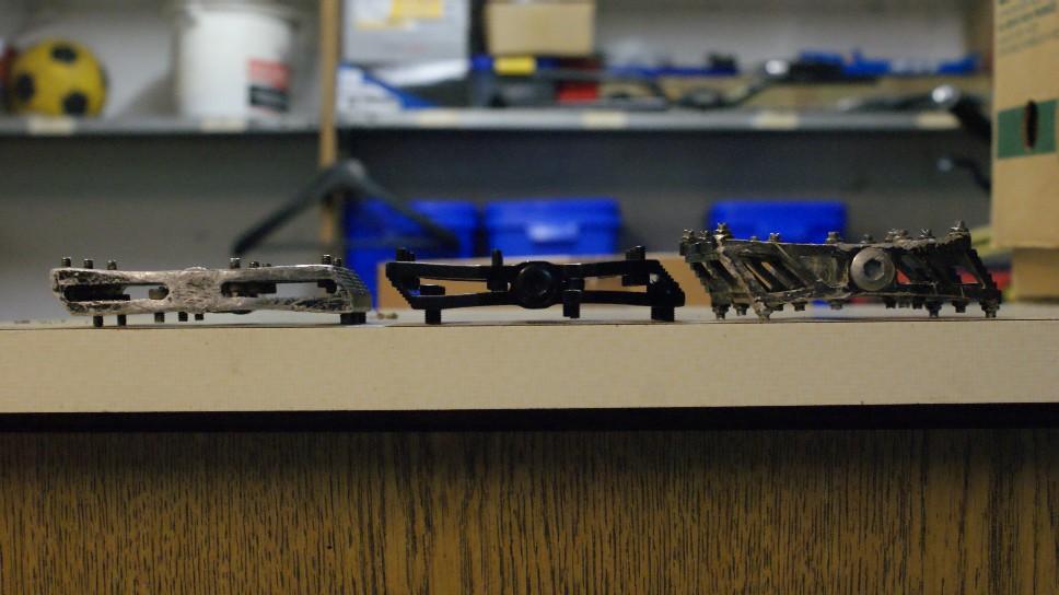 davtus ORACLE Plattform Pedal Pedale Downhill MTB silb.