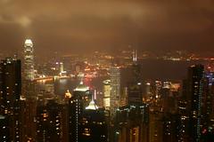 Victoria Harbor - Hong Kong Skyline (chille4me) Tags: hongkong thepeak victoriaharbor