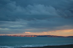 Looking out to Cape Kidnappers at Sunset (catspyjamasnz) Tags: sunset sea newzealand cliffs nz napier capekidnappers hawkesbay