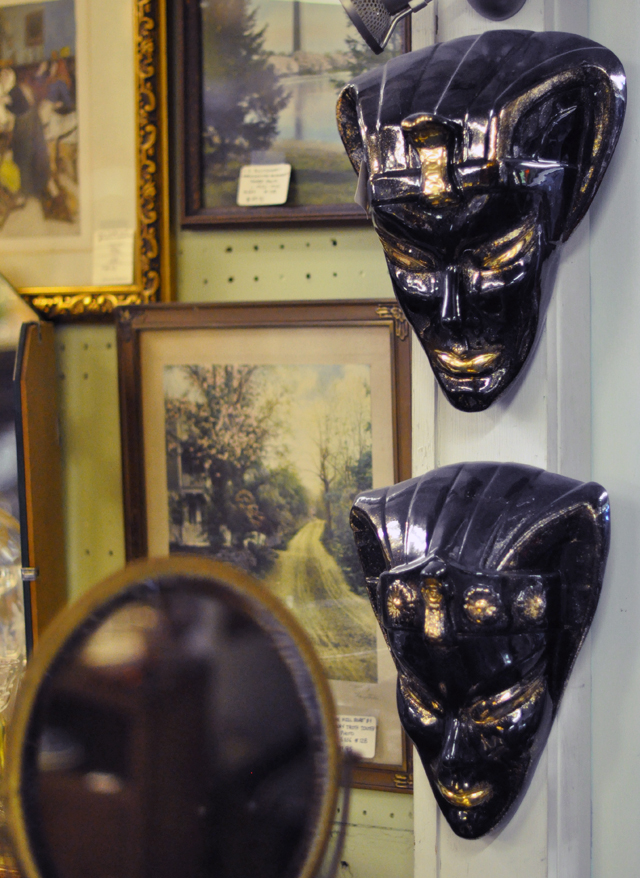 vintage wall masks