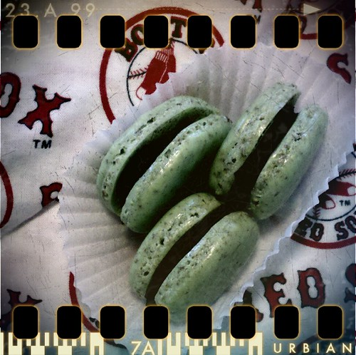 Green Monster Mint Chocolate Macs