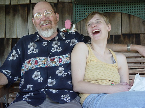 Father and Daughter, laughing