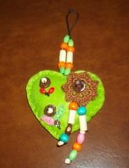 Corao verde (Oh!.. So cute!) Tags: hearts artesanato coraes feltro feitopormim