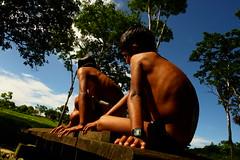 alma (Gustavo A. Zambrano Cabrera) Tags: bridge azul mxico ro children puente agua rboles village selva nios jungle cielo chiapas comunidad relog jungla mojados selvalacandona