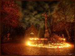 All Saints day (Kaj Bjurman) Tags: autumn day all sweden stockholm cemetary saints soe hdr kaj 2007 cs3 kyrkogrd photomatix allhelgona bjurman