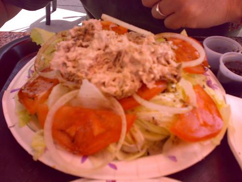 insalata con mega anelli cipolla