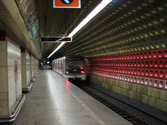 Subway in Prague (Hazboy) Tags: old city beautiful train underground subway europa europe czech prague metro zug praha praga tschechien bahn bohemia treno trein praag ceska tg  repubblicaceca  eskrepublika ceskoslovensko  hazboy hazboy1 hazboyeuro