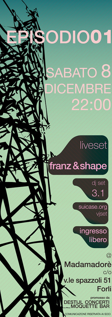 flyer franz shape graphic