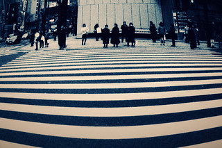 FADED MEMORY: wide crosswalk