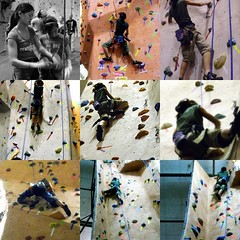 a climb to the top (tuanhd5) Tags: collage daughter picasa familyfun thanksgivingweekend hn blueribbonwinner mywinners rockclimbingwithcousins picstakenbyhercousin indooractivityforthewinterseason chippyd