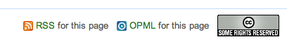 Mahalo: RSS, OPML, CC License