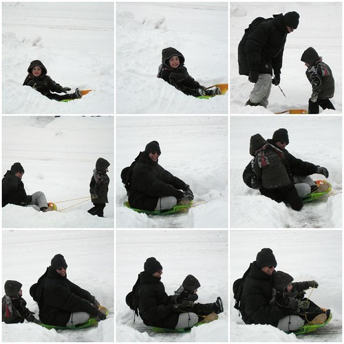 NHL goes sledding with Daddy