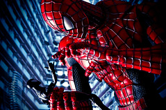 Plastic 52 -  Week 02 (pairadocs) Tags: project toy actionfigure comic spiderman plastic comicbook articulated 52 toybiz playingwithtoys symbiote spidermanmovie pairadocs plastic52 blackspidey