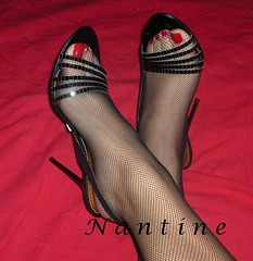 Buffalo 2 (Kwnstantina) Tags: red woman buffalo toes long highheels sandals fishnet nails longlegs stilleto femalelongnails