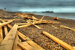 """Ice Prince"" timber on Brighton Beach 2 (Erasmus T) Tags: beach pier brighton timber hdr mediachancedynamicphotohdr iceprince"