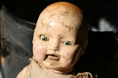 doll 4 (suzanneduda) Tags: old baby vintage doll antique creepy dollhead foundintrash inasuitcase