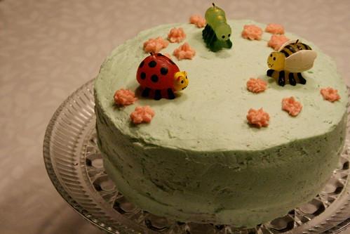 her bug cake