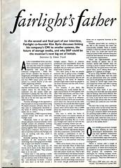 Kim Ryrie - Fairlight's Father Interview 1987 (1of2) (Neil Vance) Tags: kim iii neil series midi interview vance dsp fairlight cmi cofounder ryrie 6802016bit neilvance