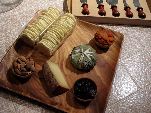 The cheese plate from Taste that Becky brought
