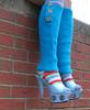 rainbow respite (Lorena Cupcake) Tags: feet socks shoes heels kicks shoegazer kneehighsocks lowerhalf otks