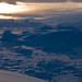 Sunset on Sermilik fjord