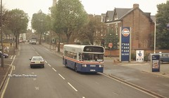 'Hovis', it's as good today, as it's always been! (Lady Wulfrun) Tags: road travel west bus tree buses gulf conversion baseball garage bat double single heath 1997 1956 petrol lime 27 daimler fleetline midlands decker novemeber hovis pte 6956 coverted bromford wmpte wda956t washwood
